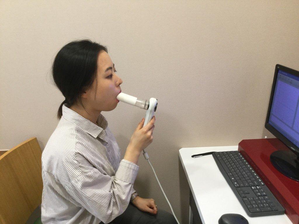 ▲肺活量検査
