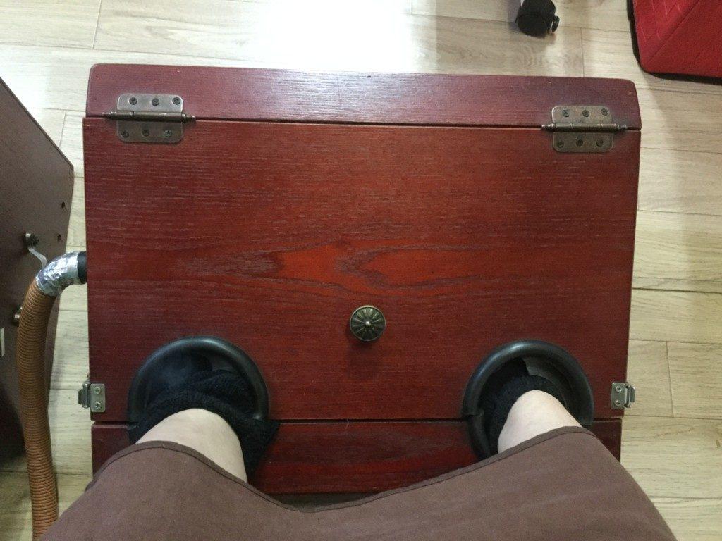 ▲足にも毒素が多いので、좌훈とセットがオススメです。
