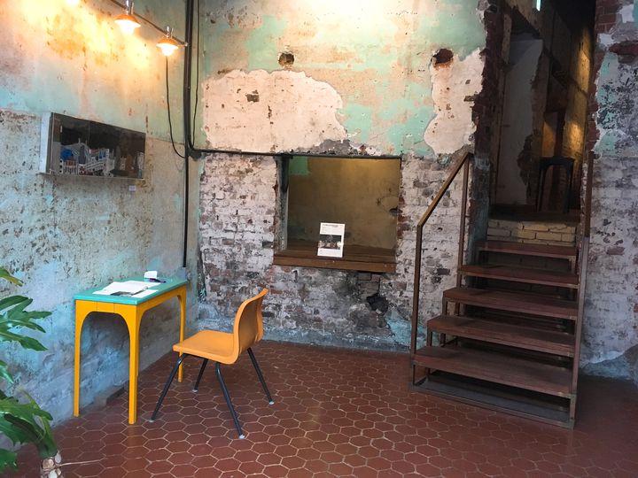 ▲カフェの入口付近