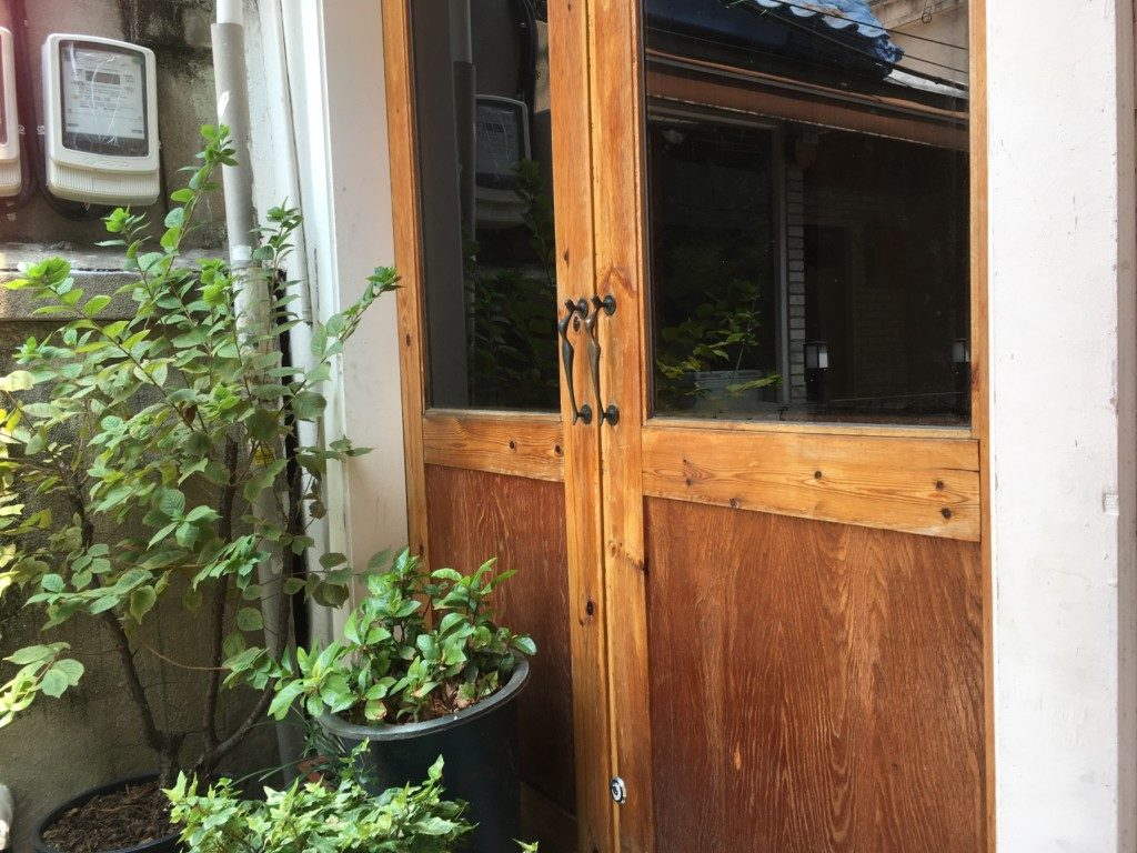 ▲カフェの入口
