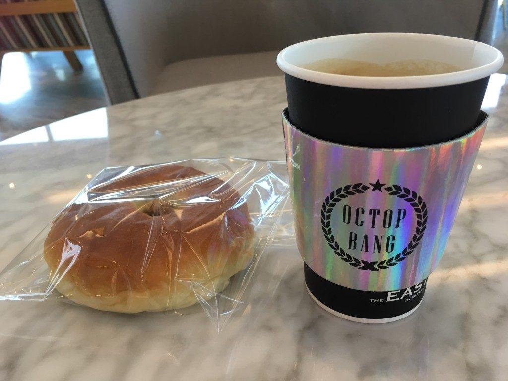 ▲あずきパンとコーヒー