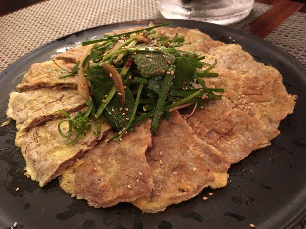 ▲육전(肉チヂミ)18000ウォン