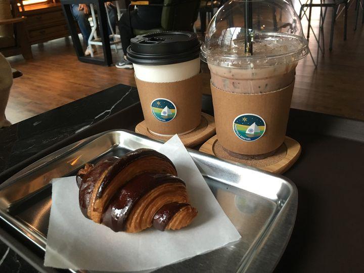 ▲コーヒーとクロワッサン