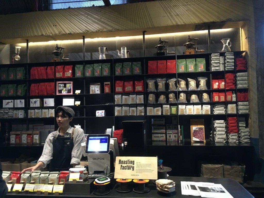 ▲コーヒー豆販売
