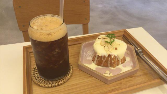 ▲フレンチトーストとアイスコーヒー