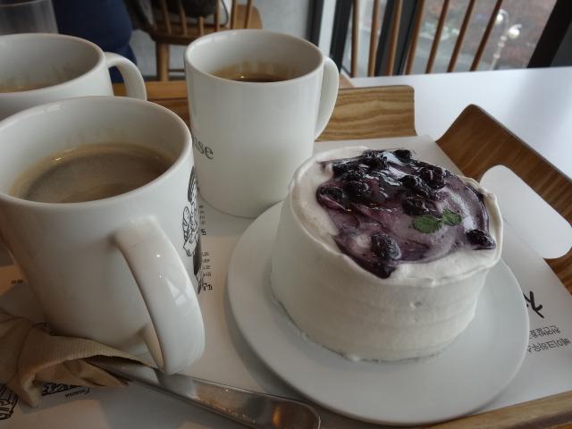 ▲コーヒーとケーキ