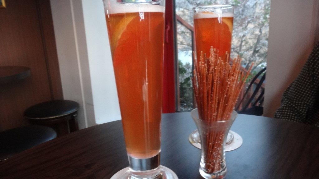 ▲Grapefruit beer/グレープフルーツビール
