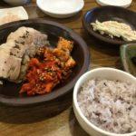 【釜山/西面駅】【1人OK】ランチがオススメ!ゆで豚定食をお得に食べよう!!