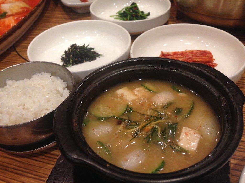 ▲된장찌개(デェンジャンチゲ/味噌汁)とご飯セット