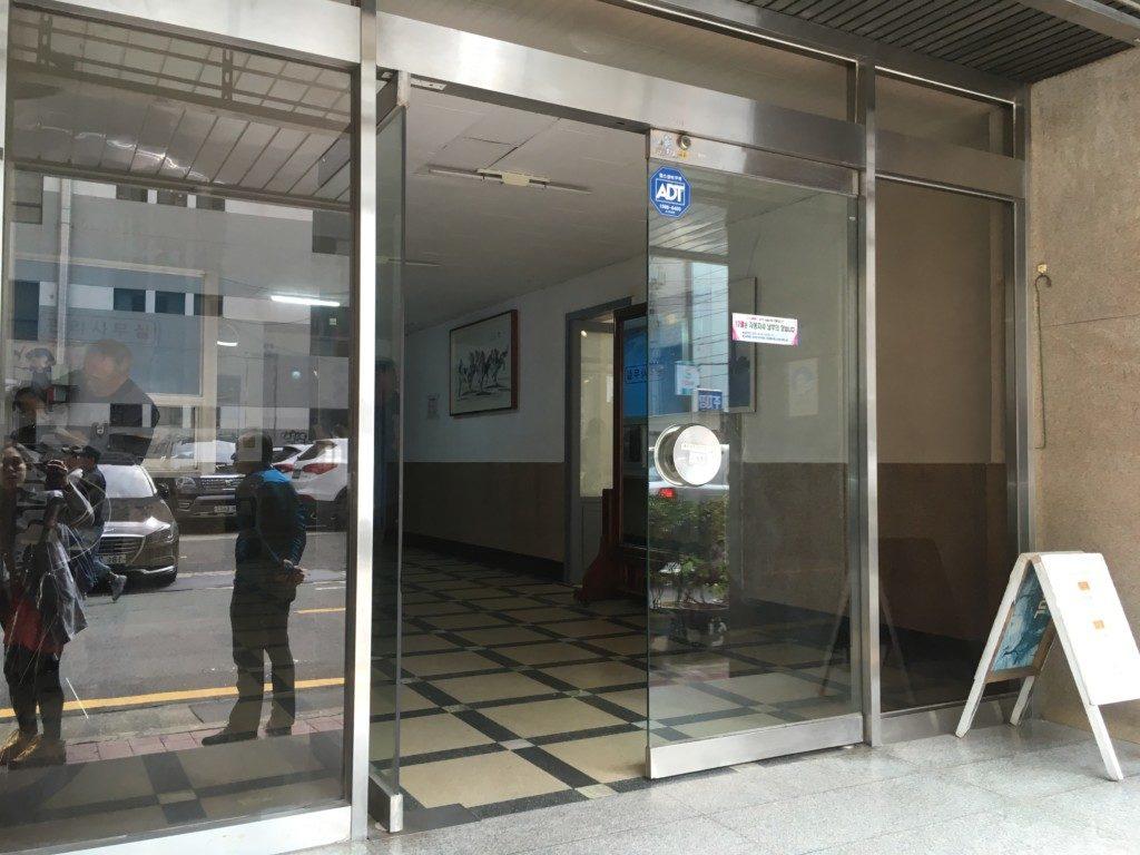 ▲建物の入口