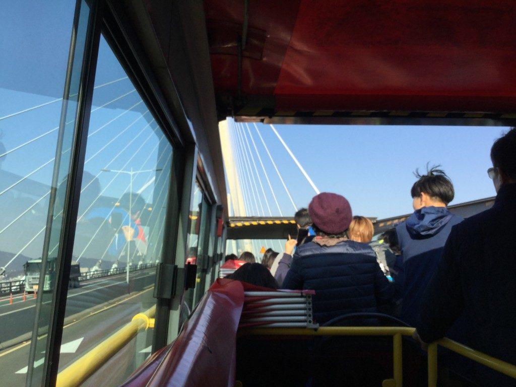 ▲釜山大橋の上