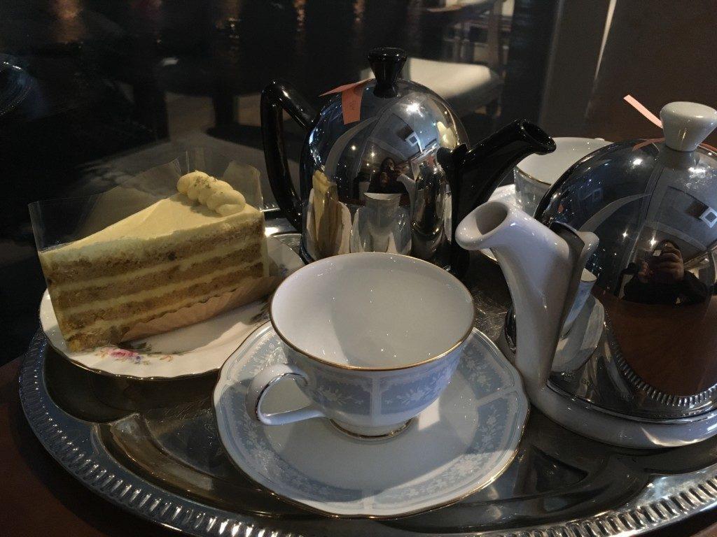 ▲紅茶とかぼちゃケーキ