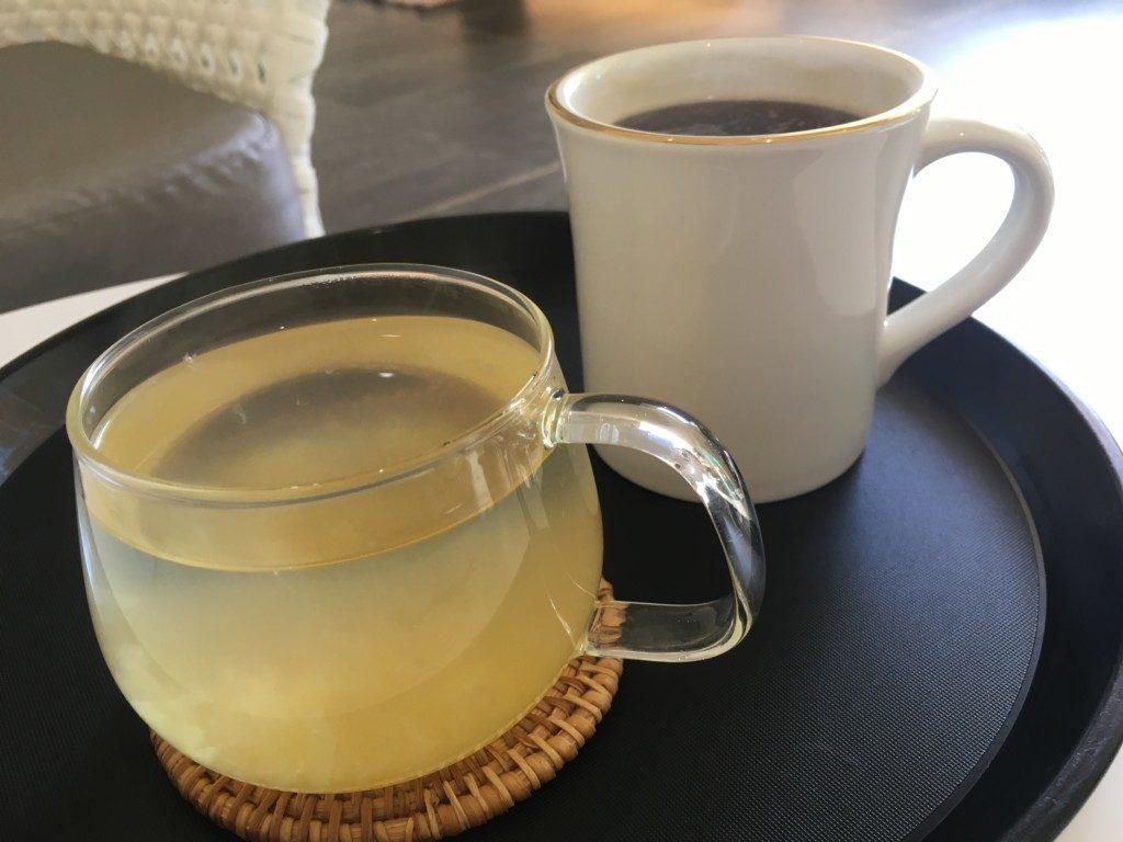 ▲ゆず茶&コーヒー
