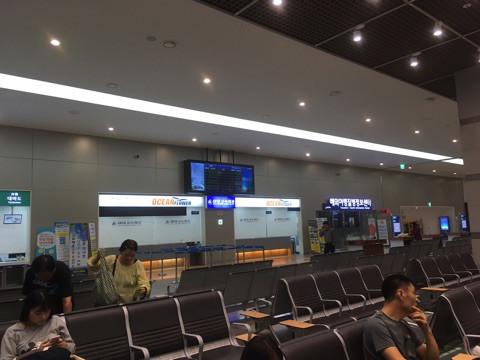 ▲釜山港国際旅客ターミナル