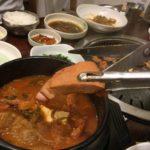【釜山/ササン駅】見て!この豚肉の大きさ!美味しいキムチチゲ