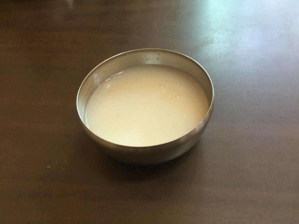 ▲ごはんのおこげスープ