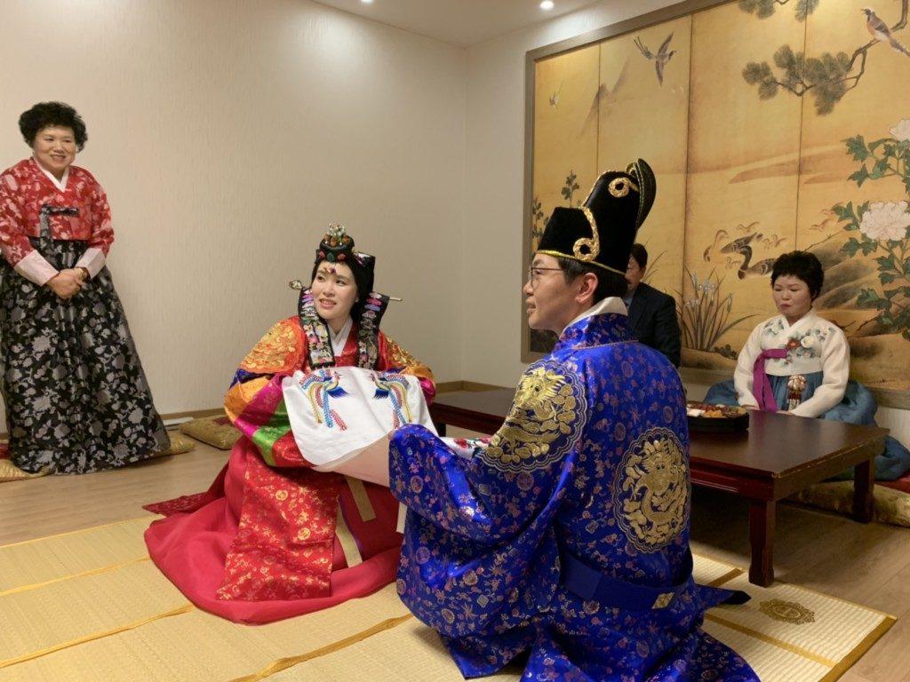 ▲韓国伝統結婚式