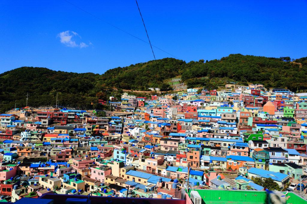 ▲釜山甘川文化村(カムチョンムンファマウル)