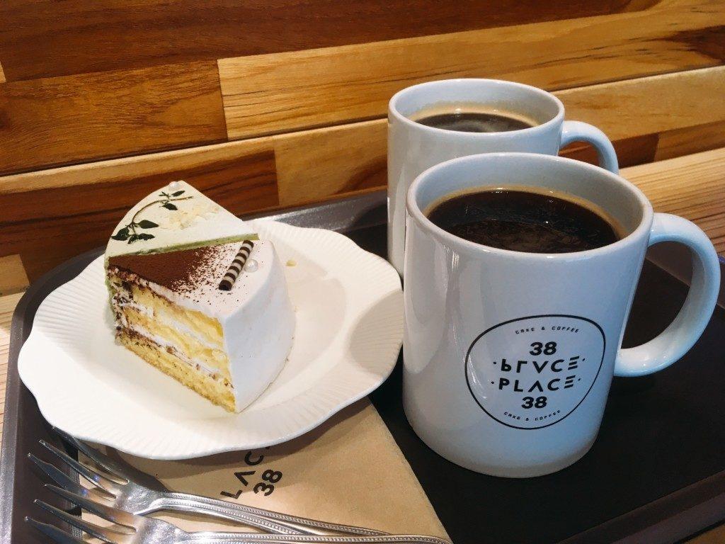 ▲ケーキとコーヒーセット