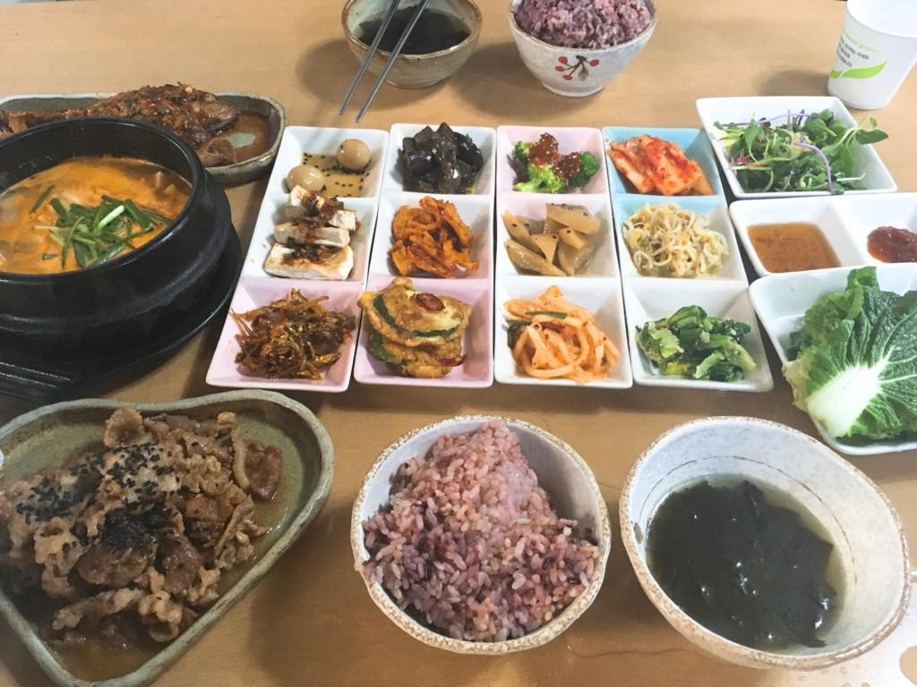 ▲韓国定食