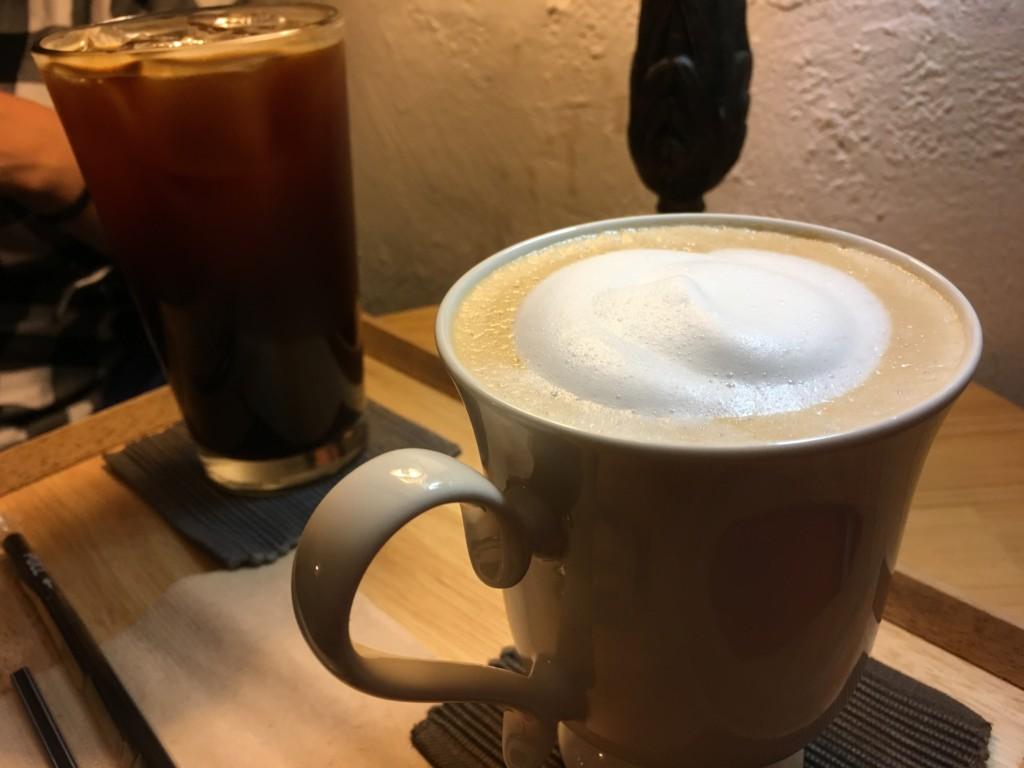 ▲コーヒーとカフェラテ